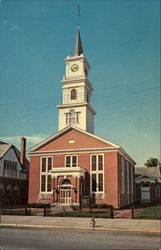 First Baptist Church, Built 1847 Postcard
