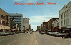Kansas Avenue looking south, main street of Topeka