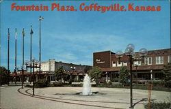 1908 Coffeyville, Kansas Postcard Kellogg and Jefferson