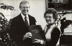 Coral Lee w/President Jimmy Carter Hand Signed