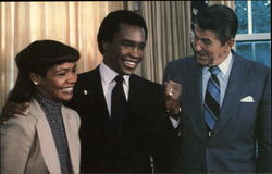 """Sugar Ray"" Leonard Visits the White House"