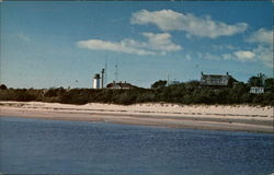 Along the shoreline by Chatham Light, Cape Cod Postcard