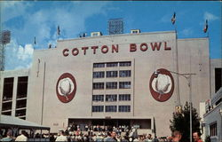 Main Entrance to Dallas' Famed Cotton Bowl