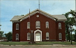 The Macon County Courthouse Postcard
