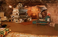 Fireplace, World Famous Hole N' The Rock Home