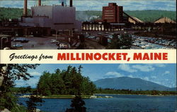 Greetings From Millinocket, Maine Postcard