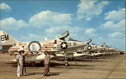 Poised A-4 Skyhawk Jets of the Combat Ready Naval Air Reserve