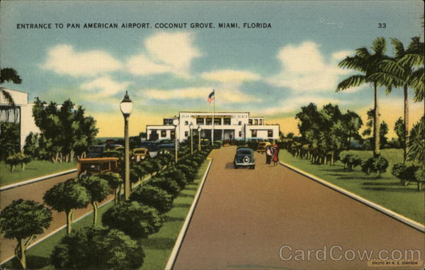 Entrance to Pan American Airport, Coconut Grove Miami Florida
