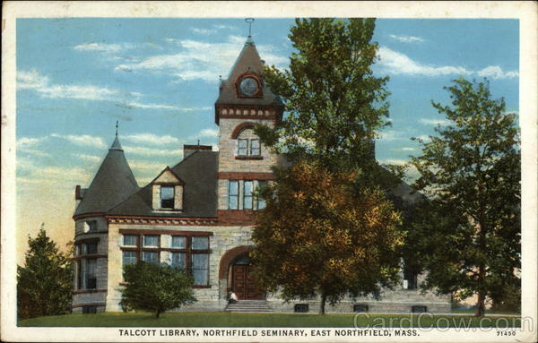 Talcott Library, Northfield Seminary East Northfield Massachusetts