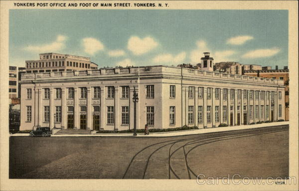 Yonkers Post Office and Foot of Main Street New York