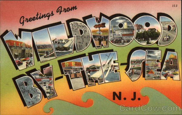 Greetings from Wildwood By-The-Sea Wildwood-By-The-Sea New Jersey