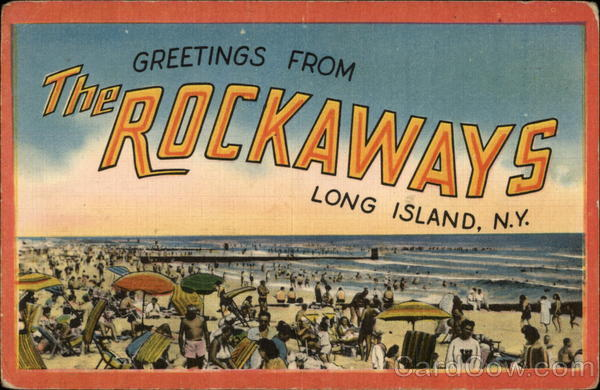 Greetings from The Rockaways Long Island New York Large Letter