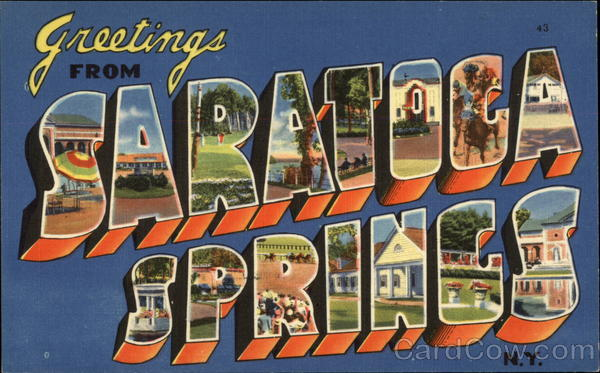 Greetings from Saratoga Springs New York Large Letter