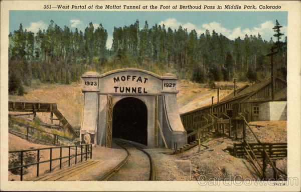 West Portal of the Moffat Tunnel at the Foot of Berthoud Pass Winter Park Colorado
