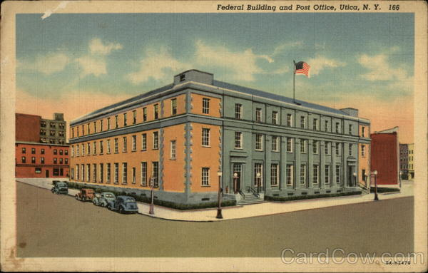 Federal Building and Post Office Utica New York