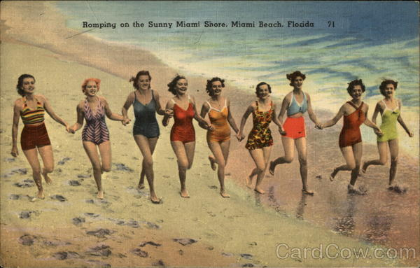 Romping on the Sunny Miami Shore Miami Beach Florida