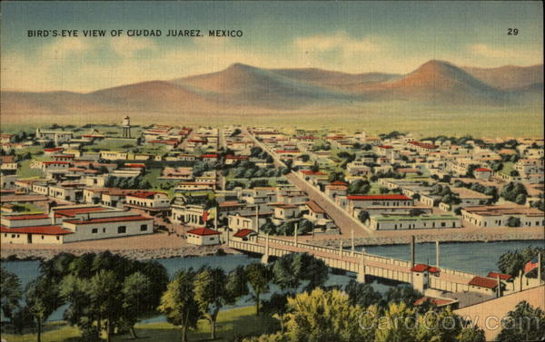 Bird's-Eye view of Ciudad Juarez Mexico