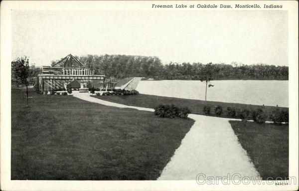 Freeman Lake at Oakdale Dam Monticello Indiana