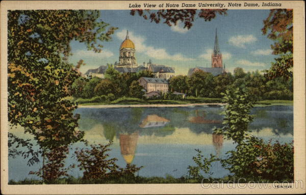 Lake View of Notre Dame University Indiana