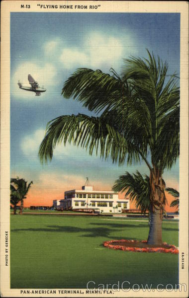 Flying Home from Rio - Pan American Terminal Miami Florida
