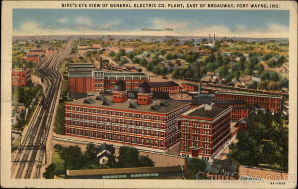 Bird's-Eye View of General Electric Co. Plant, East of Broadway Fort Wayne Indiana