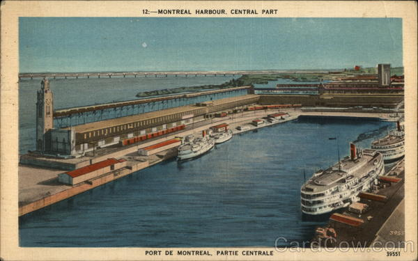Central Part of Montreal Harbour Canada Quebec