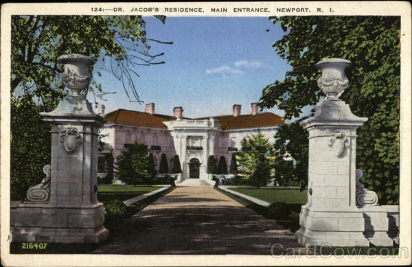 Dr. Jacob's Residence, Main Entrance Newport Rhode Island