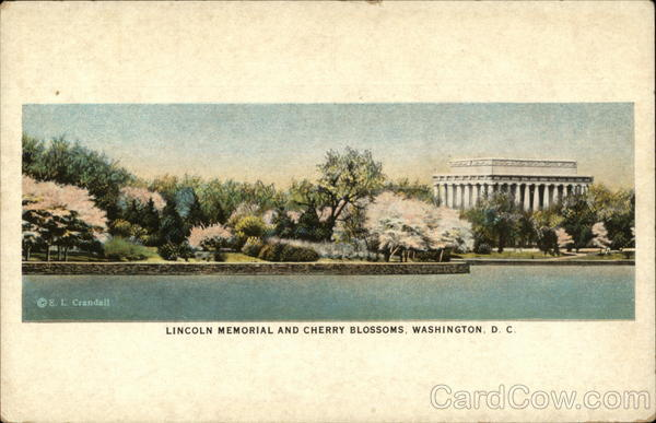 Lincoln Memorial and Cherry Blossoms Washington District of Columbia