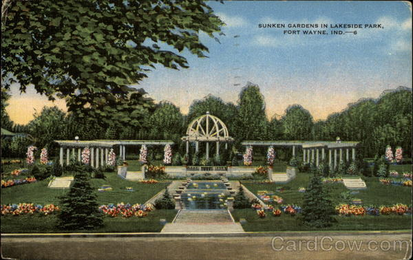 Sunken Gardens in Lakeside Park Fort Wayne Indiana