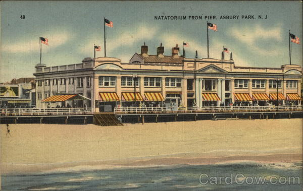 Natatorium from Pier Asbury Park New Jersey