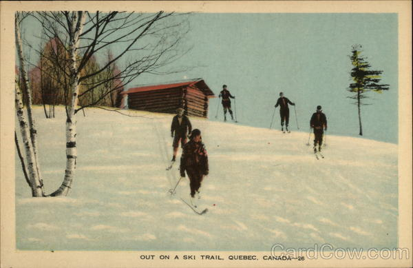 Out on a Ski Trail Canada Quebec