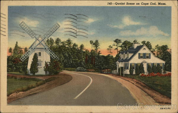 Quaint Scene on Cape Cod, Mass Osterville Massachusetts