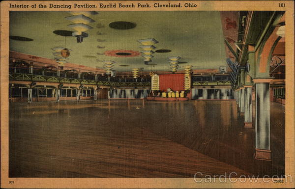 Interior of the Dancing Pavilion, Euclid Beach Park Cleveland Ohio