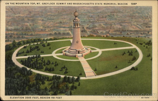 On the Mountain Top, Mt. Greylock Summit and Massachusetts State Memorial Beacon Adams