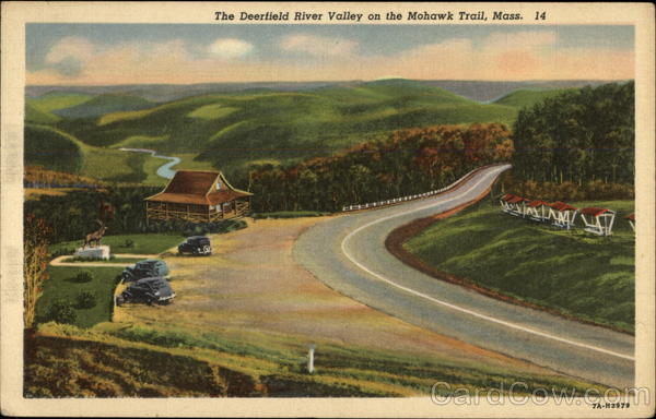 The Deerfield River Valley on the Mohawk Trail Massachusetts