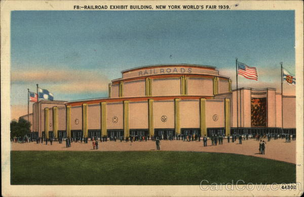Railroad Exhibit Building 1939 NY World's Fair