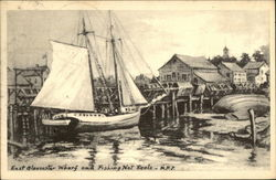 East Gloucester Wharf and Fishing Net Reels