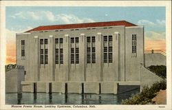 Monroe Power House, Looking Upstream, Columbus, Neb