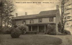 House in which General Mercer died