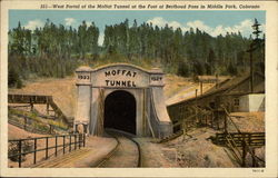 West Portal of the Moffat Tunnel at the Foot of Berthoud Pass