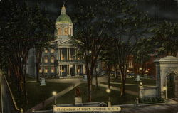 New Hampshire State House at Night