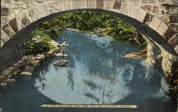 Old Stone Bridge over Cedar Creek, Petit Jean State Park Postcard