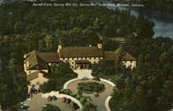 Aerial View, Spring Mill Inn, Spring Mill State Park