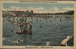 Bathing Beach with Ballroom showing in background