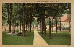 Looking Across the Park from Jefferson Street Postcard