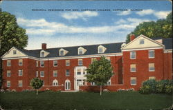Memorial Residence for Men, Carthage College Postcard