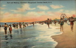 Surf and Midway, Carolina's Playground Postcard
