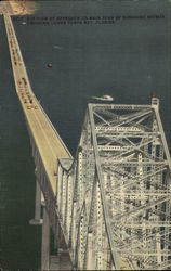 Air View of Approach to Main Span of Sunshine Skyway