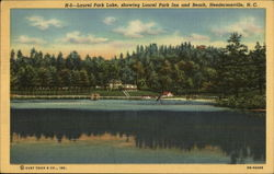 Laurel park lake, showing Laurel Park Inn and Beach