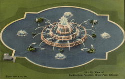 Air View of Buckingham Fountain, Grant Park Postcard